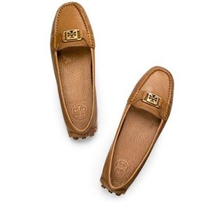 Tory Burch Royal Tan Kendrick Driver Flats